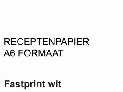 FastPrint Recepten papier 80gr. Wit, A6 pak 2000 vel