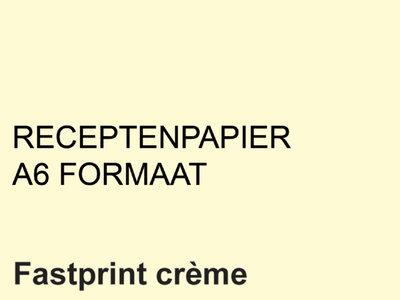 FastPrint Recepten papier 80gr. Creme, A6 pak 2000 vel