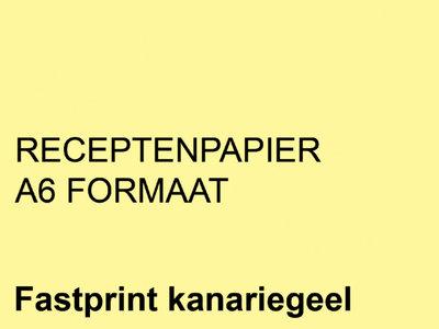FastPrint Recepten papier 80gr. Kanariegeel, A6 pak 2000 vel