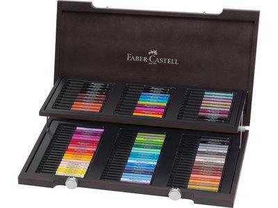 tekenstift Faber-Castell Pitt Artist Pen houten koffer,     90-delig